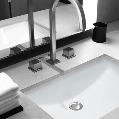 Stahl Ceramic Large Undermount Rectangular Bowl Bath Sink White Sam 39 S Club