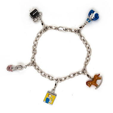 1940 39 s charms of the decade sterling silver bracelet sam