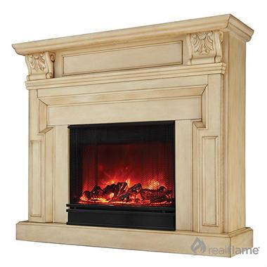 Kristine Electric Fireplace Antique White Sam 39 S Club