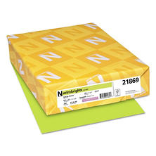 Neenah Paper - Astrobrights Colored Card Stock, 65 lbs., 8-1/2 x 11, Vulcan Green -  250 Sheets