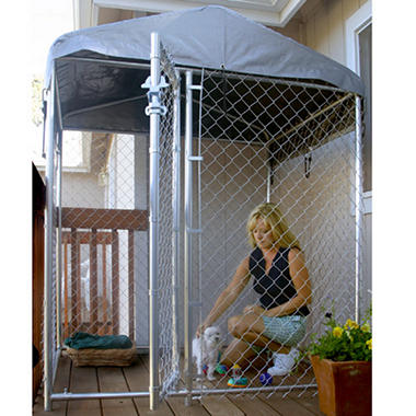 Lucky Dog Hi Rise Deck Patio Kennel With Cover Sam S Club