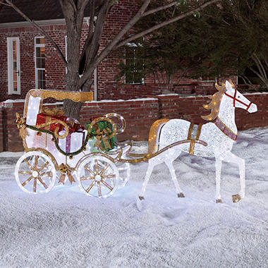 holiday decor sams club members mark stately horse and carriage outdoor decor