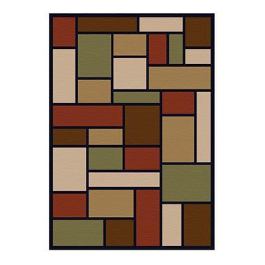 sorrento rug, geo blocks black (8' x 10') sam's club