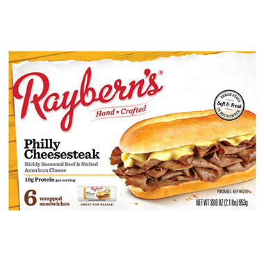 Costco Auto Program >> Raybern's Philly Cheesesteak (5.6 oz., 6 ct.) - Sam's Club