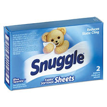 Snuggle Vend-Design Fabric Softener Sheets, Blue Sparkle, 2 Sheets/Box (100 ct.)