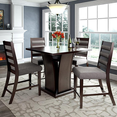 Bistro Counter Height Dining Table With 4 Grey Sand Dining Chairs Sam 39 S Club