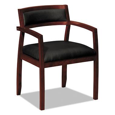 Basyx Vl850 Wood Guest Chair Black Mahogany Sam S Club