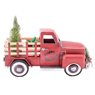 Vintage Red Truck Christmas Decor