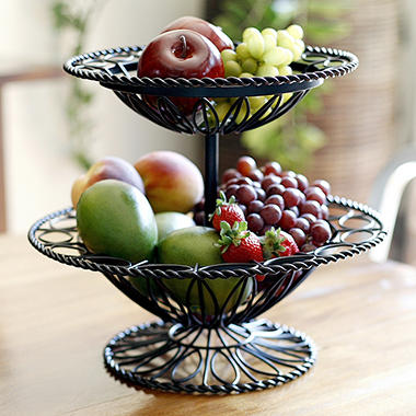 Milano two tier wrought iron basket sam 39 s club - Tiered fruit bowl ...