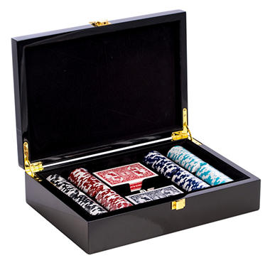 Poker Set with 200 Clay Composite Chips, Two Decks of