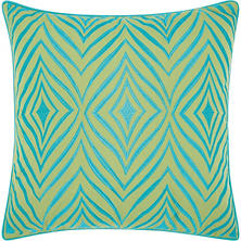 Mina Victory Embellished Wild Chevron Outdoor Throw Pillow (Various Colors)