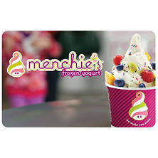 Menchie's $50 Value Gift Cards - 5 x $10