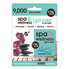 Spa & Wellness Gift Card by Spa Week - Various Amounts