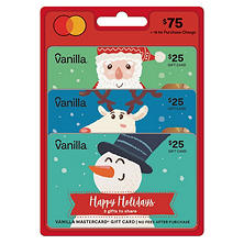 Holiday Vanilla Mastercard® $75 Value Gift Cards - 3 x $25