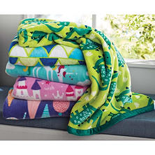 "Kids Reversible Throw 50"" x 60"" (Assorted Colors)"