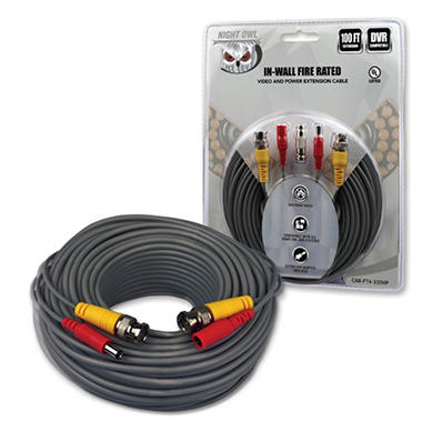 Night Owl 100 Ft Bnc Video Power Camera Extension Cable