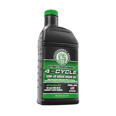 Green Earth Technologies 10w 30 4 Cycle Motor Oil 18 Oz