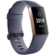 FitBit Charge 3 Rose Gold with Navy Bands and Bonus Black Band