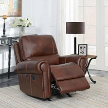 Member's Mark Harrison Leather Rocker Recliner with USB Charging Port