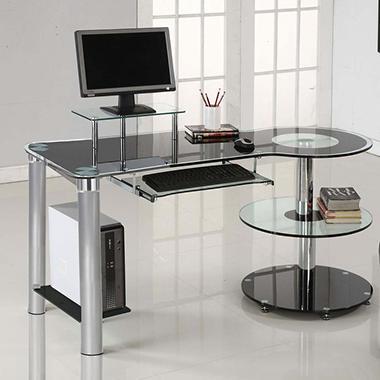 Innovex Orbit Desk Black Chrome Sam S Club