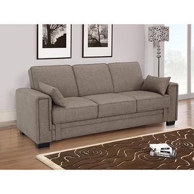 Serta Houston Casual Convertible Sofa Khaki Sam S Club