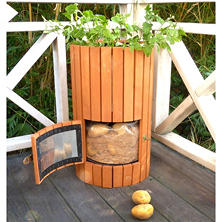 Merry Products Wooden Potato Planter