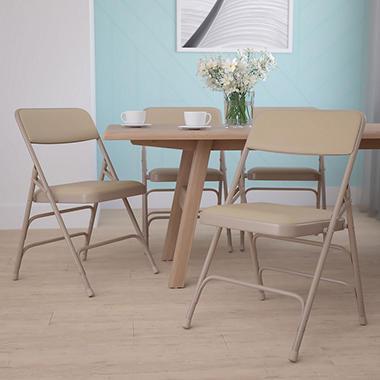 Hercules Vinyl Folding Chairs Beige Sam s Club