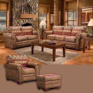 Sierra Lodge Living Room Set 4 Pc Sam S Club