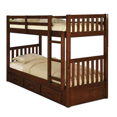 Twin twin bunk bed assorted colors sam 39 s club for 5 yr old beds