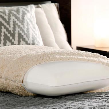 Fine Bedding Traditional Memory Foam Pillow : Dreamfinity Sherpa & Memory Foam Luxury Bed Pillow - Sam s Club