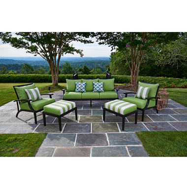 Pasadena 5 piece seating with premium sunbrella fabric for Pasadena outdoor furniture
