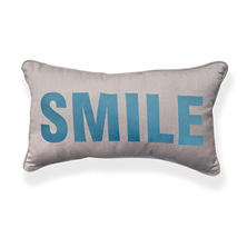 "12"" x 20"" Toss Pillow, Spectrum Dove Sunbrella Fabric With Embroidery"