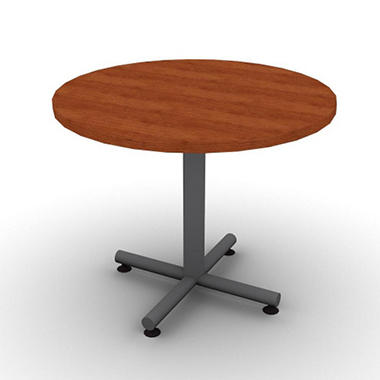 Snapoffice 36quot round table amber cherry sam39s club for Round table for office