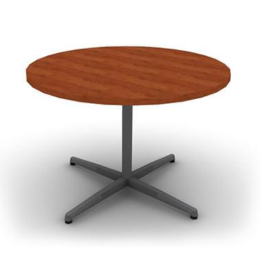 Snap Office Round Table Aluminum Gray Blossom