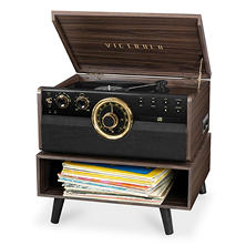 Victrola Empire Mid-Century Modern Record Player Bundle