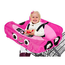 Little Tikes Cozy Coupe Shopping Cart and High Chair Cover, Choose Pink or Red