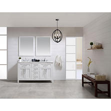OVE Decors Tahoe 60 in. Bathroom Vanity with Mirror (White)