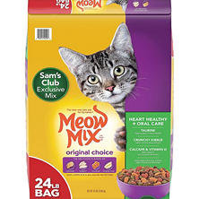 Meow Mix Original Choice Dry Cat Food, Heart Health & Oral Care Formula (24 lbs.)