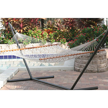 Cancun double rope hammock natural sam 39 s club for Rope hammock plans
