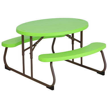 lifetime children 39 s oval picnic table green sam 39 s club. Black Bedroom Furniture Sets. Home Design Ideas