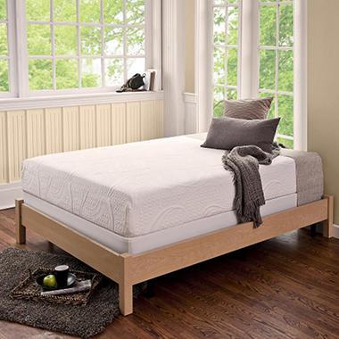 night therapy memory foam 8 inch pressure relief queen mattress bi fold box spring set sam 39 s. Black Bedroom Furniture Sets. Home Design Ideas