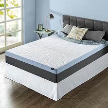 "ZInus Night Therapy Gel-Infused Memory Foam 12"" Elite Twin Mattress & Bed Frame Set"