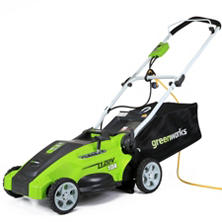 "GreenWorks 10 Amp 16"" Corded Lawn Mower"