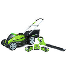 "GreenWorks G-MAX 40V 19"" Lawn Mower and Blower Combo Lawn Kit"