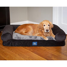 "Serta XL Round Bolster Couch Pet Bed 40""x 30"" (Choose Your Color)"