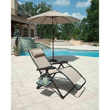 Extra Large Anti Gravity Chair With Side Table Heather