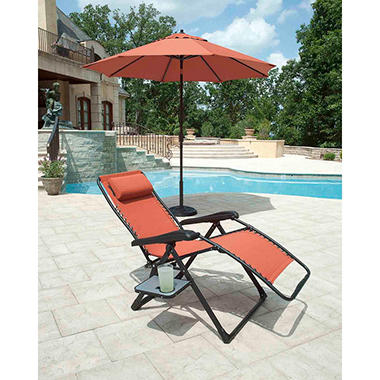 Extra Large Anti Gravity Chair With Side Table Rust