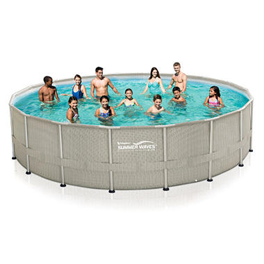 20 39 x 48 summer waves elite frame pool set sam 39 s club for Summer waves above ground pool review