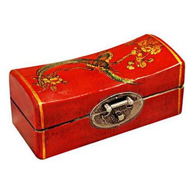 handmade red leather jewelry box bird blossoms sam 39 s club