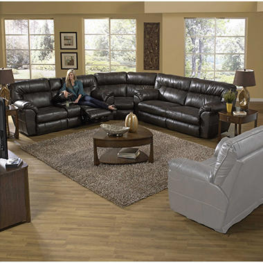 Judson reclining oversize sectional living room 3 piece - Three piece living room table set ...